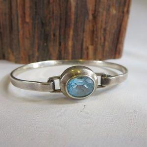 Sterling Silver Ross Simons Blue Crystal Bracelet